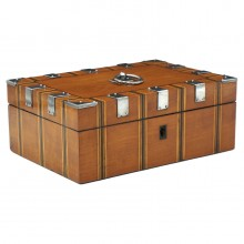 Satinwood and Steel Box