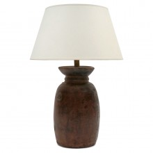 Antique Wood Milk Pot Lamp