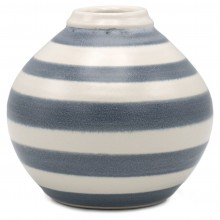 Small Blue and White Striped Vase