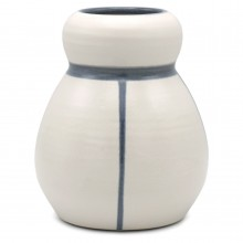 White and Blue Stoneware Vase