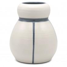 White and Blue Stoneware Vase