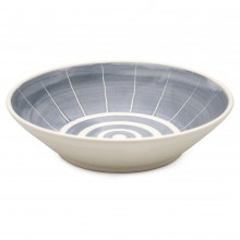 Blue and White Stoneware Bowl