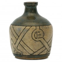 Incised Stoneware Vase