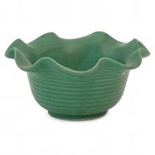 Green Stoneware Bowl