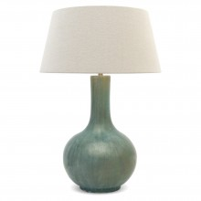 Light Blue/Green Stoneware Lamp