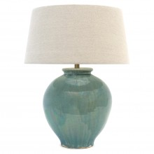 Light Blue Green Stoneware Lamp