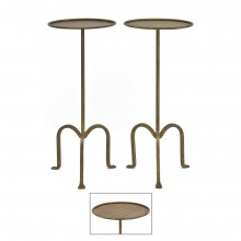 French Iron Tripod Tables
