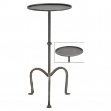 French Steel Tripod Table