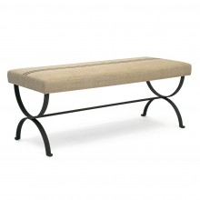 Black Iron Curule Form Bench