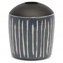 Blue, White and Black Vase
