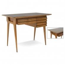Italian Oak Three Drawer Desk