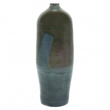 Blue and Green Stoneware Vase