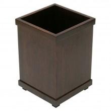 Mahogany Wastebasket  (Square)