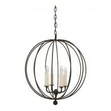 "Four-Light Iron Open Sphere Pendant Light Fixture (19"" Diameter)"