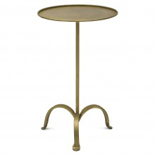 Texture Iron Tripod Drinks Table