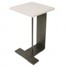 Steel and Marble Drinks Table