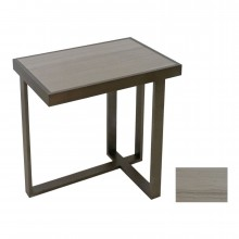 Rectangular Iron and Marble Asymmetrical Drinks Table