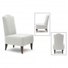 Upholstered Stylized Slipper Chair
