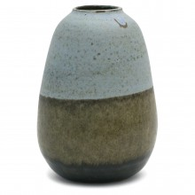 French Tri-Color Stoneware Vase