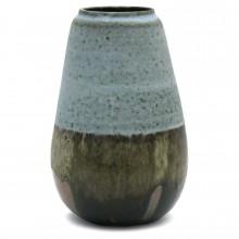 French Tri-Color Stoneware Vase