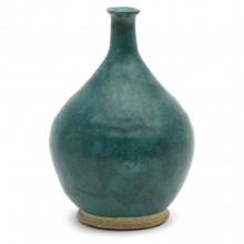 Blue Green Stoneware Vase