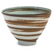 Celadon and Brown Stripe Bowl