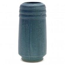 Drip Glazed Blue Studio Vase