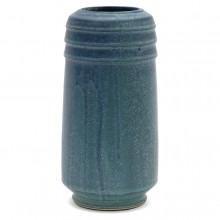 Drip Glazed Blue Studio Vase