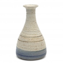 Studio Beige and Blue Stoneware Vase