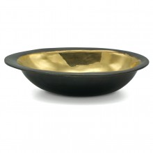Oval Brass and Bronze Bowl