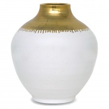 Large White and Gold Vase