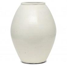 Large White Stoneware Vase