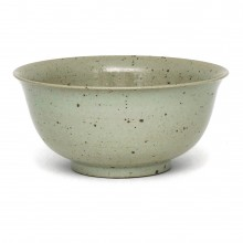 Large Beige Chinese Bowl