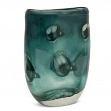 Hand Blown Teal Glass Vase