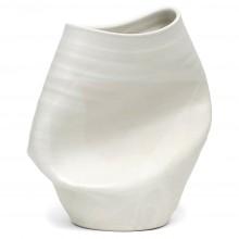 White Stoneware Smashed Vase