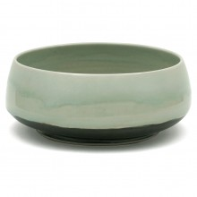 Celadon and Black Stoneware Bowl