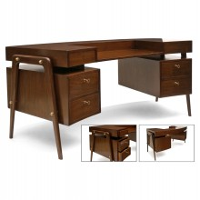 Curved Mid-Century Desk