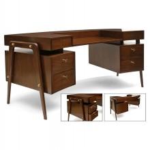 Curved Mid-Century Desk