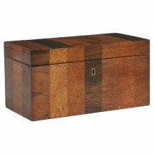English Specimen Wood Tea Caddy