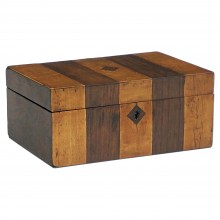 English Striped Wood Box