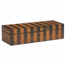 English Striped Wood Box