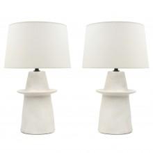 Pair of Plaster Lamps