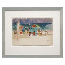 Watercolor Beach Scene