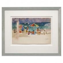 Watercolor Beach Scene
