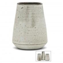 French Gray Stoneware Vase