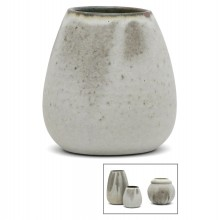 French Gray Stoneware vase