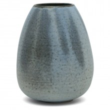 French Blue Stoneware vase