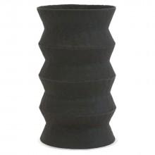 Black Zig-Zag Ceramic Umbrella Stand