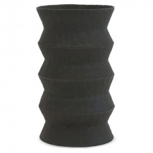 Black Zig-Zag Ceramic Umbrella Stand