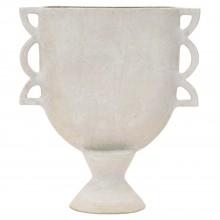 Matte White Ceramic Vase in Geometric Shapes by John Born